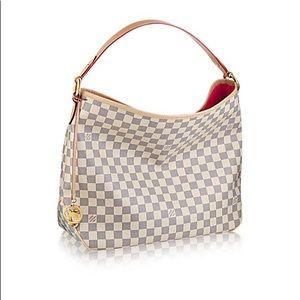 RARE Louis Vuitton MM Delightful Damier Azur Pink